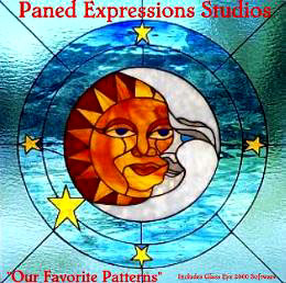 Stained glass supplies paned expressions pattern cd 1 our favorite patterns - Amazing stained glass fireplace screen designs with intriguing patterns ...