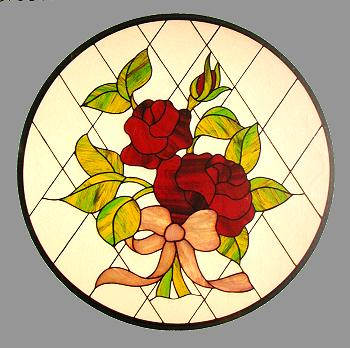 Glasgow Rose Stained Glass Template | Free Quilting Patterns on