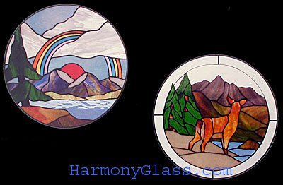 Stained Glass Pattern Cke 116 Mountain Rainbow Mule Deer